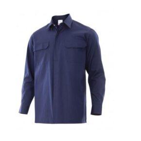 Ropa de trabajo barata Camisa ignífuga antiestática Velilla serie 605001, 60% Modacrílica 38% Algodón 2% Antiestático