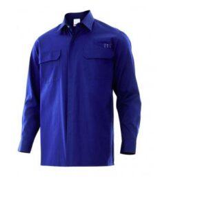 Ropa de trabajo barata Camisa ignífuga antiestática Velilla serie 605003, Sarga. 97% algodón - 3% antiestático