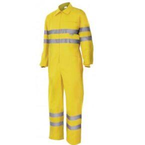 Ropa de trabajo barata Mono alta visibilidad Velilla serie 150, Sarga. 80% poliéster - 20% algodón