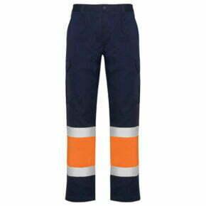 Ropa de trabajo barata Pantalón multibolsillos alta visibilidad 169300 Roly, 20% algodón 80% poliéster