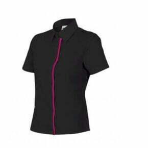 Ropa de trabajo barata camisa manga corta mujer Industria Base Velilla serie P538, 35% algodón, 65% poliéster