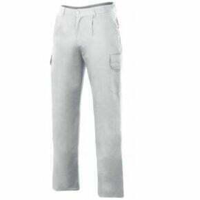 Ropa de trabajo barata pantalón acolchado multibolsillos Velilla serie 398, 35% algodón 65% poliéster