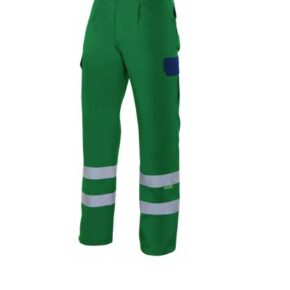 Ropa de trabajo barata pantalón multibolsillos alta visibilidad Velilla serie PT159, 35% algodón 65% poliéster