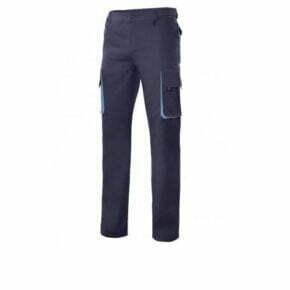 Ropa de trabajo barata pantalón multibolsillos bicolor industria base Velilla serie 103003, 35% algodón 65% poliéster