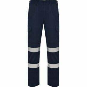 Ropa laboral barata Pantalón multibolsillos alta visibilidad 169307 Roly, 35% algodón 65% poliéster