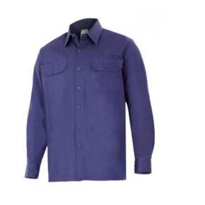 Ropa de trabajo barata camisa manga larga industria base Velilla serie 533, 100% algodón