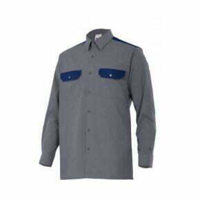 Ropa de trabajo barata camisa manga larga industria base Velilla serie CT520, 35% algodón 65% poliéster