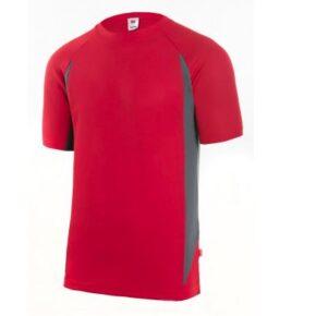 Ropa de trabajo barata camiseta manga corta técnica industria base Velilla serie 105501, 100% poliéster
