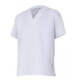 Ropa de trabajo barata camisola manga corta industria alimentaria industria base Velilla serie 255201, 35% algodón 65% poliéster
