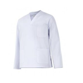 Ropa de trabajo barata camisola pijama manga larga sanidad y limpieza Velilla serie 588, 35% algodón 65% poliéster
