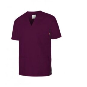 Ropa de trabajo barata camisola pijama stretch manga corta sanidad y limpieza Velilla serie 535206S, 62% poliéster - 34% algodón - 4% elastano
