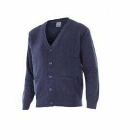 Ropa de trabajo barata chaqueta de punto fino industria base Velilla serie 103C, Punto canalé, 100% acrílico