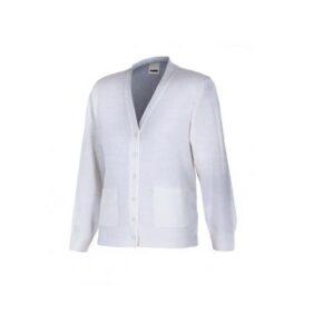 Ropa de trabajo barata chaqueta de punto fino mujer industria base Velilla serie 103, Punto canalé 100% acrílico
