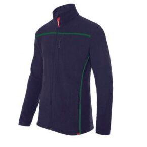 Ropa de trabajo barata chaqueta polar bicolor industria base Velilla serie P201502, 100% poliéster