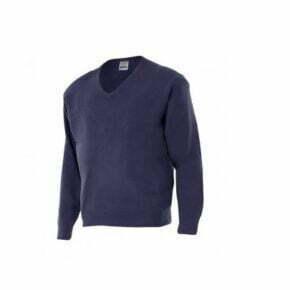 Ropa de trabajo barata jersey punto fino cuello en V industria base Velilla serie 104, punto canalé 100% acrílico