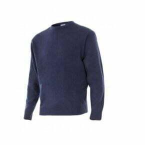 Ropa de trabajo barata jersey punto fino cuello redondo industria base Velilla serie 105, punto canalé 100% acrílico