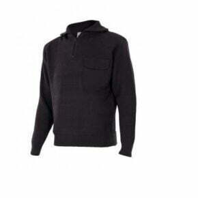 Ropa de trabajo barata jersey punto grueso cuello alto industria base Velilla serie 101, punto canalé 100% acrílico
