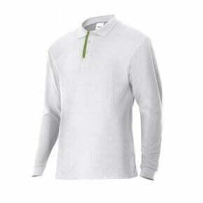 Ropa de trabajo barata polo manga larga industria base Velilla serie P105503, 60% algodón 40% poliéster