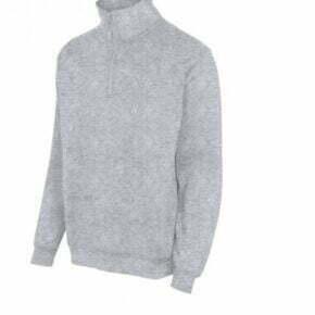 Ropa de trabajo barata sudadera media cremallera industria base Velilla serie 105702, 35% algodón 65% poliéster