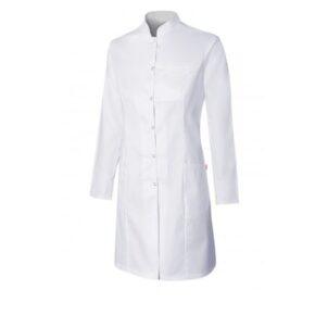 Ropa de trabajo barata - Bata stretch cuello mao mujer - Sanidad y limpieza Velilla serie 539007S - 62% poliéster - 34% algodón - 4% elastano