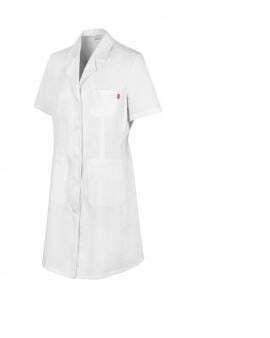 Ropa de trabajo barata bata manga corta mujer sanidad y limpieza Velilla serie 539003, 35% algodón 65% poliéster