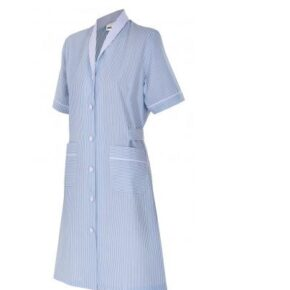 Ropa de trabajo barata bata manga corta mujer sanidad y limpieza Velilla serie 952, 35% algodón 65% poliéster