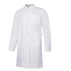Ropa de trabajo barata bata stretch hombre sanidad y limpieza Velilla serie 539006S, 62% poliéster - 34% algodón - 4% elastano