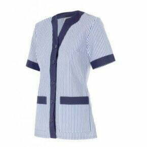 Ropa de trabajo barata chaqueta pijama manga corta sanidad y limpieza Velilla serie 579, 35% algodón 65% poliéster