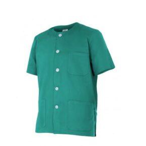 Ropa de trabajo barata chaqueta pijama manga corta sanidad y limpieza Velilla serie 599, 35% algodón 65% poliéster