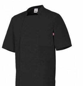 Ropa de trabajo barata Chaqueta de cocina manga corta Hostelería Velilla serie 405201, Popelín 65% poliéster - 35% algodón