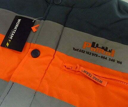 ropa de trabajo personalizada chaleco
