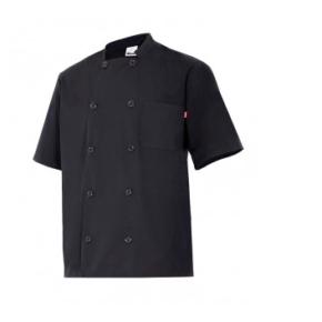 Ropa de trabajo barata chaqueta cocinero manga corta Velilla - Serie Estragón